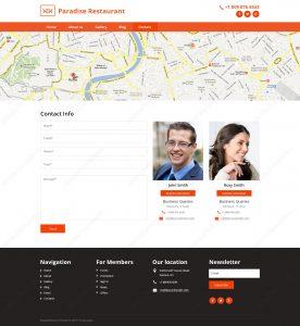 уеб сайт за ресторант контакт